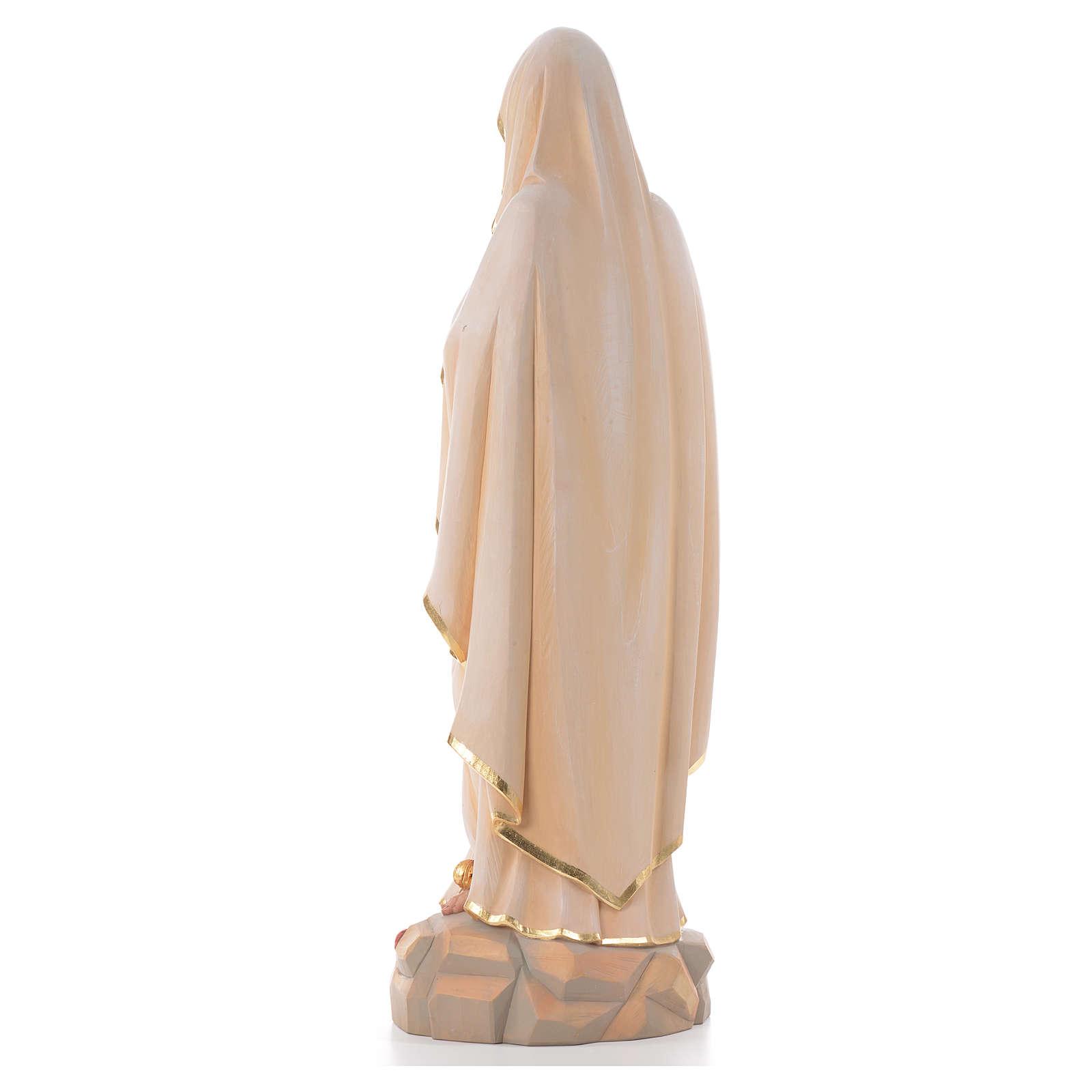 Vierge de Lourdes, staue en bois peinte 4