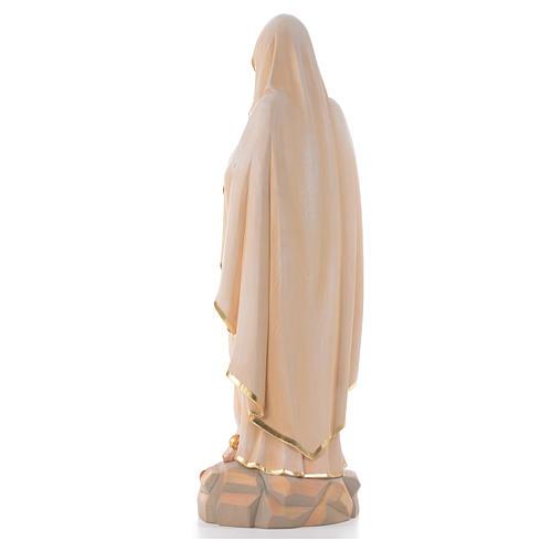 Vierge de Lourdes, staue en bois peinte 3