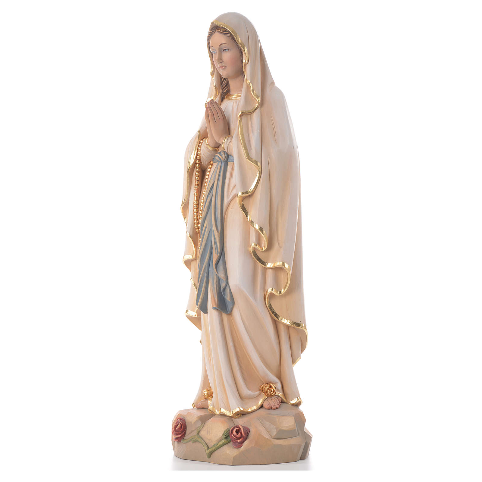 Our Lady of Lourdes, wooden painted statue 4