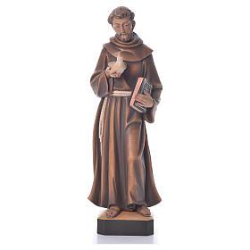 Statues en bois peint: St. François statue bois