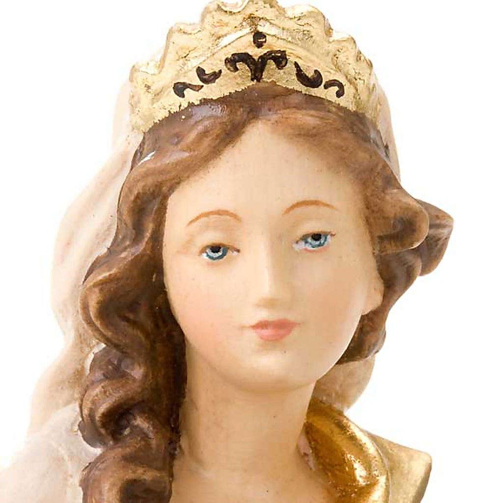 Sainte Anne et la Vierge Marie, statue bois 4