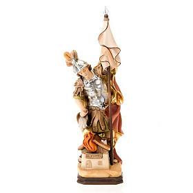Statues en bois peint: Saint Florian de Lorch, statue bois