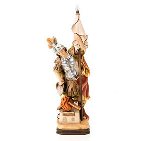 Hand painted wooden statues: Saint Florian of Lorch