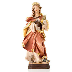 Hand painted wooden statues: Saint Christina