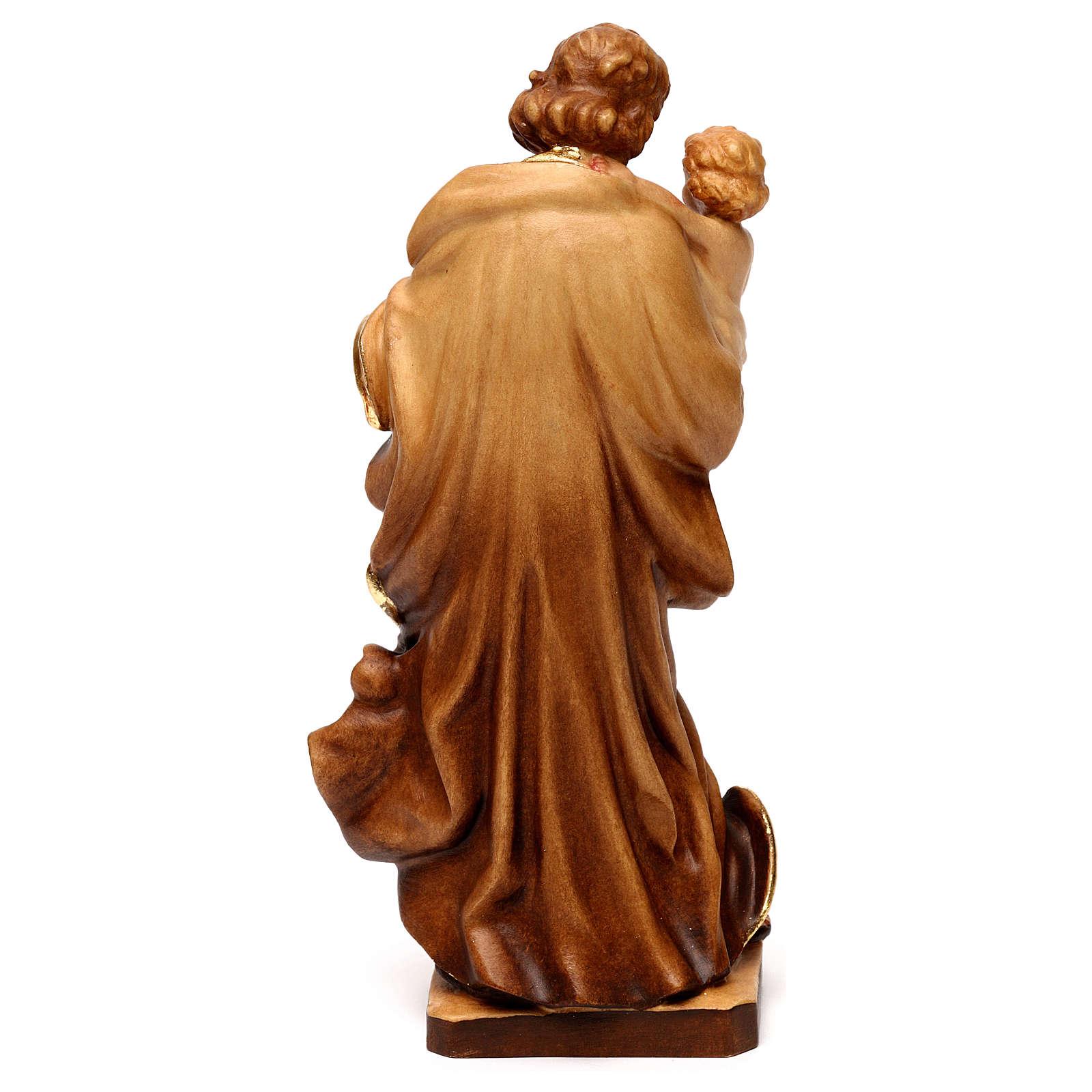 Saint Joseph avec l'enfant Jésus, statue bois 4