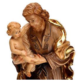 Saint Joseph avec l'enfant Jésus, statue bois s2