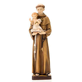 Hand painted wooden statues: Saint Anthony of Padua with Jesus 30 cm