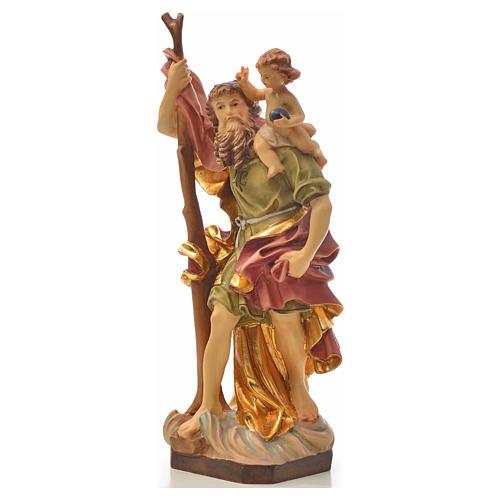 Saint Christophe, statue en bois 2