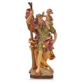 Hand painted wooden statues: Saint Christopher