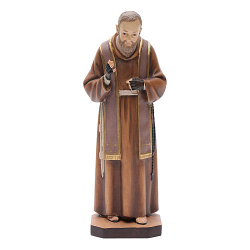 Saint Pio de Pietralcina, statue bois 1
