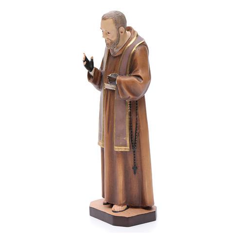 Saint Pio de Pietralcina, statue bois 2