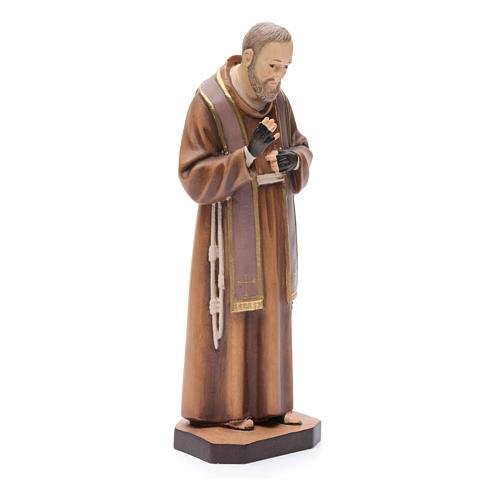 Saint Pio de Pietralcina, statue bois 3