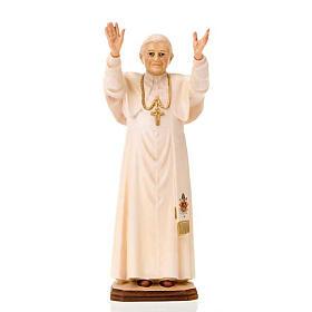 Statues en bois peint: Pape Benoit XVI