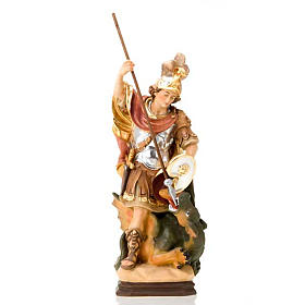 Hand painted wooden statues: Saint George