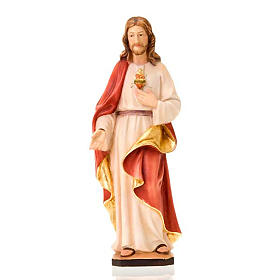 Hand painted wooden statues: Holy Heart of Jesus