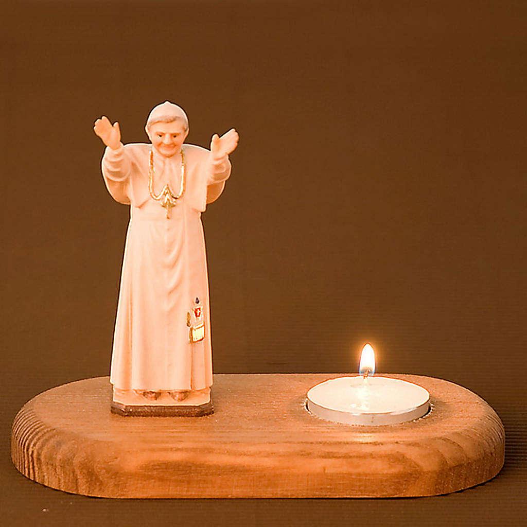 Statua Benedetto XVI su base 3