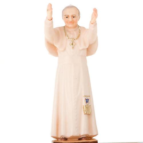 Statua Giovanni Paolo II su base con candela 3
