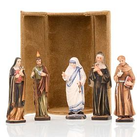 Hand painted wooden statues: Saints bijoux statue with niche