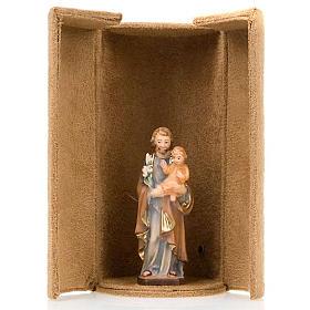 Statua bijoux Gesù e Santi con scatola nicchia s6
