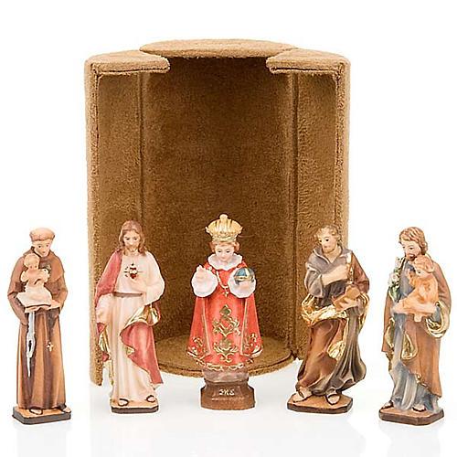 Statua bijoux Gesù e Santi con scatola nicchia 1