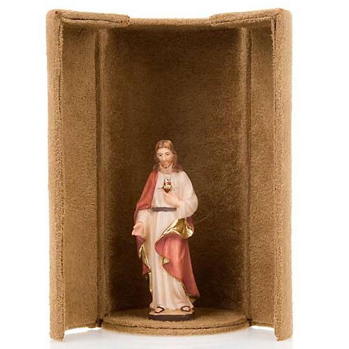 Statua bijoux Gesù e Santi con scatola nicchia 3