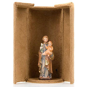 Jesus and saints bijoux statue with niche s6