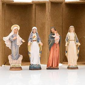 Imágenes de Madera Pintada: Estatua bijoux María con caja