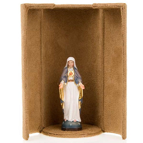 Mother Mary bijoux statue with niche 3