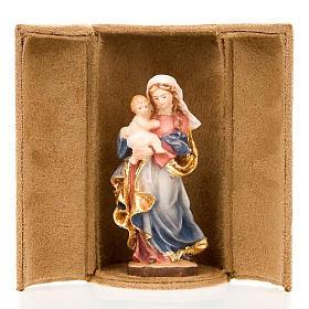 Imágenes de Madera Pintada: Estatua bijoux María y Jesús con caja
