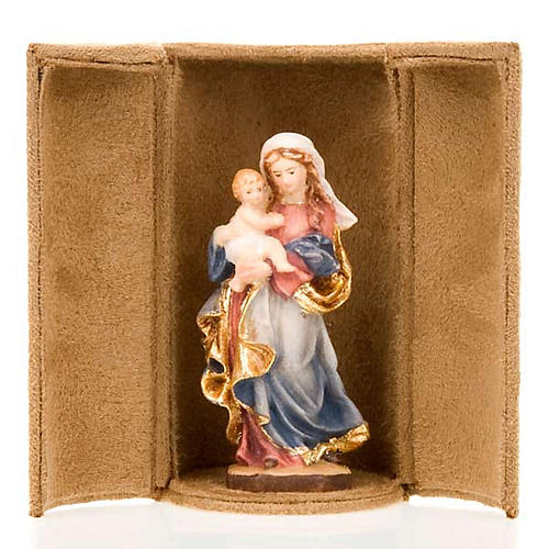Mother Mary and Jesus bijoux statue with niche 1