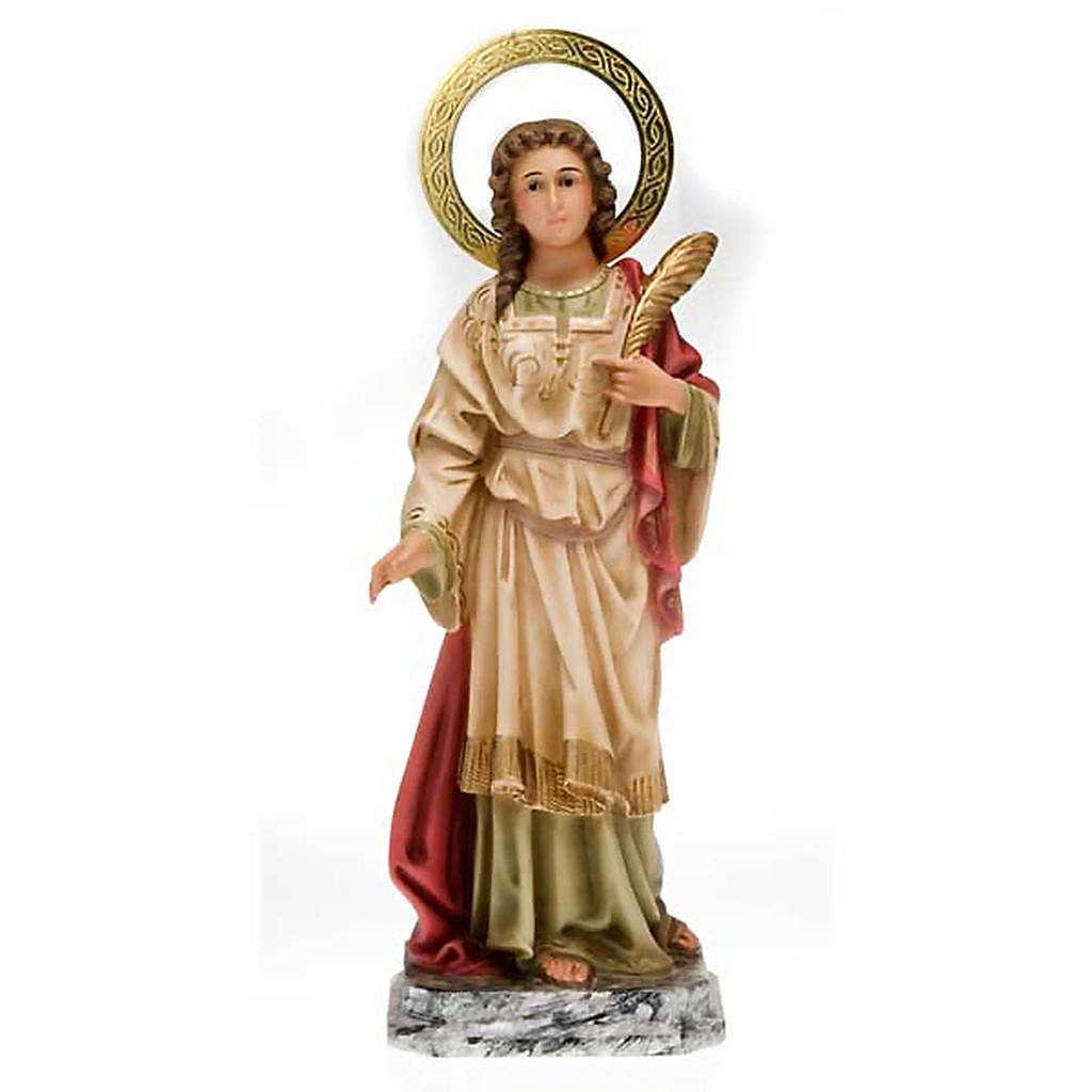 Santa Lucia pasta di legno 40 cm dec. elegante 4