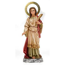 Santa Lucia pasta di legno 40 cm dec. elegante s1