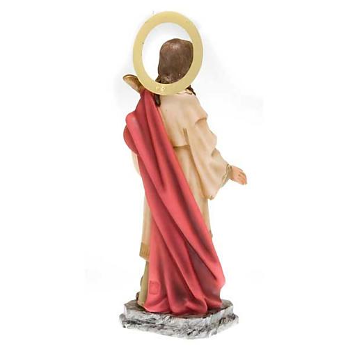 Santa Lucia pasta di legno 40 cm dec. elegante 7