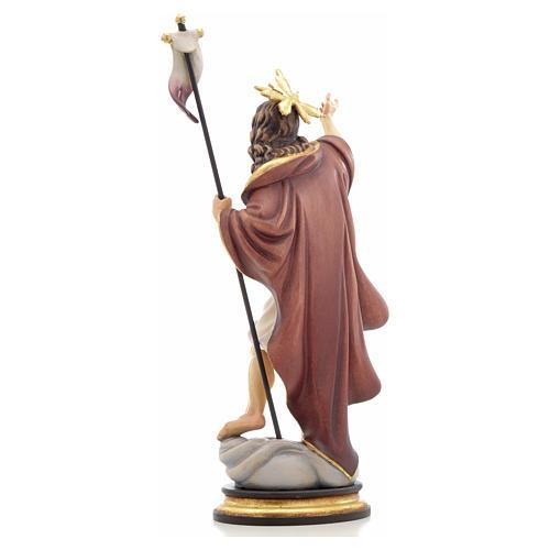 Statue bois Résurrection peinte 3