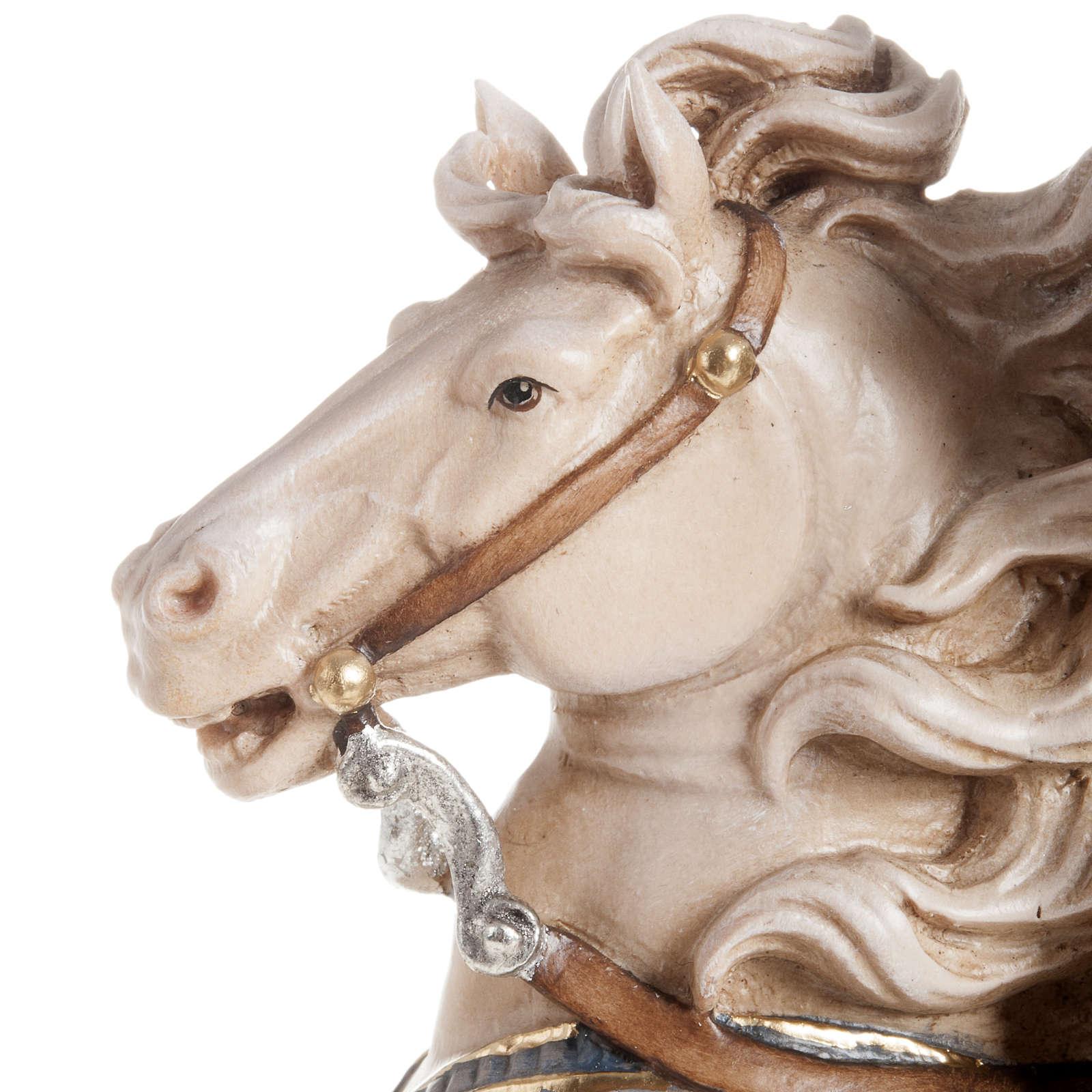 Statua legno San Martino su cavallo dipinta Val Gardena 4