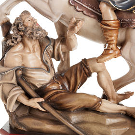 St Martin and the Beggar wooden statue painted s3