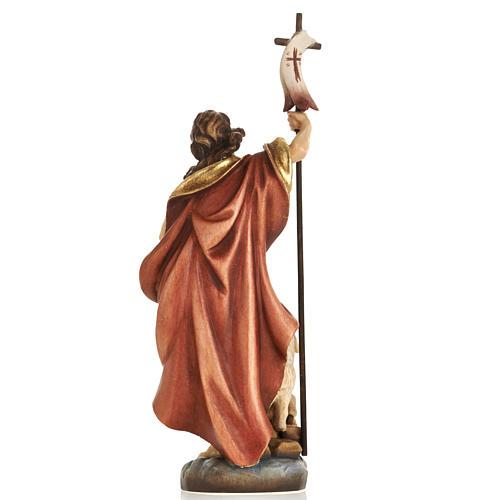 Statue bois St Jean Baptiste peinte 5