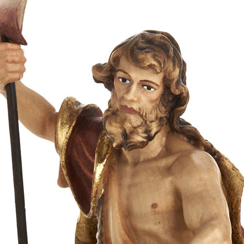 Statua legno San Giovanni Battista dipinta Val Gardena 2