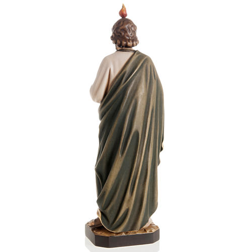 Estatua de madera San Judas Tadeo pintada Val Gardena 4