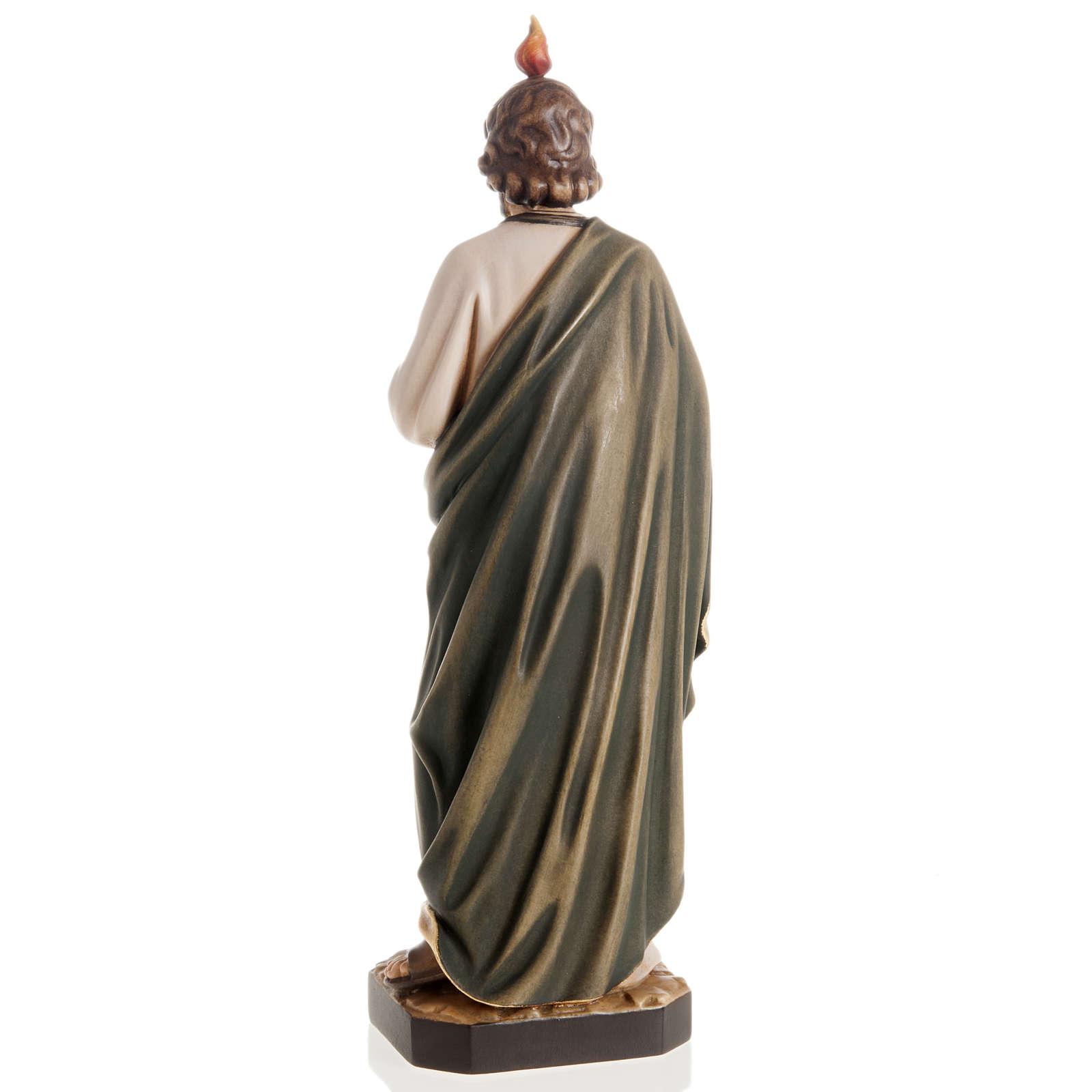 Statue bois St Jude Thaddée peinte 4
