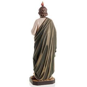 Statue bois St Jude Thaddée peinte s4