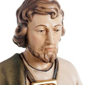 Statue bois St Jude Thaddée peinte s5