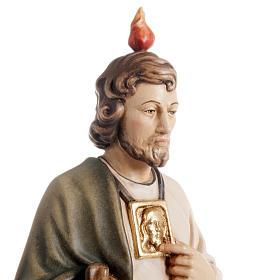 Statua in legno San Giuda Taddeo dipinta Val Gardena s2
