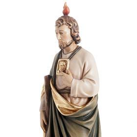 Statua in legno San Giuda Taddeo dipinta Val Gardena s3