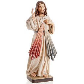Statua legno Gesù Misericordioso dipinta Valgardena s1