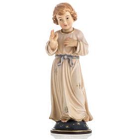 Imágenes de Madera Pintada: Estatua de madera Jesús adolescente pintada Val Gardena