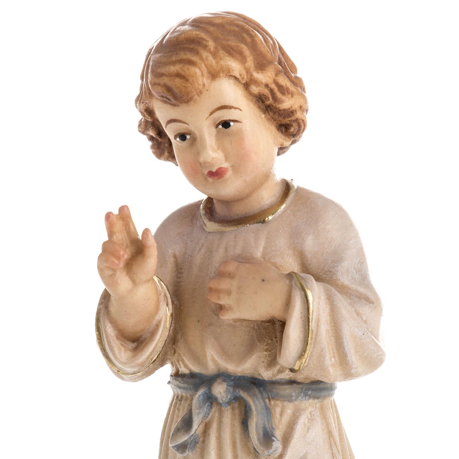 Statua in legno Gesù Adolescente dipinta Val Gardena 4