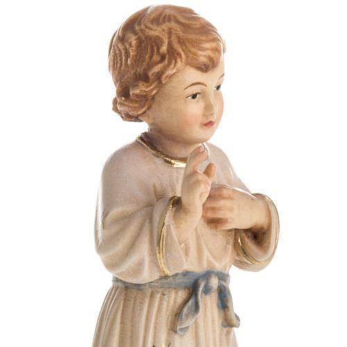 Statua in legno Gesù Adolescente dipinta Val Gardena 3