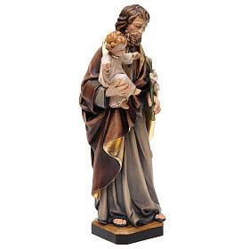 Schnitzerei Grödnertal Heiliger Josef mit Jesuskind s4