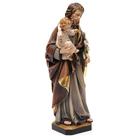 Estatua madera San José con niño pintada s4